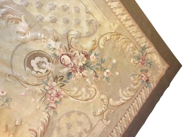 Antique French Aubusson Carpet For Sale 5