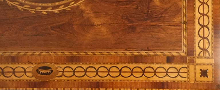 Mixed Woods Marquetry Inlaid Writing Table, Northern Italian, Late 18th Century For Sale 9