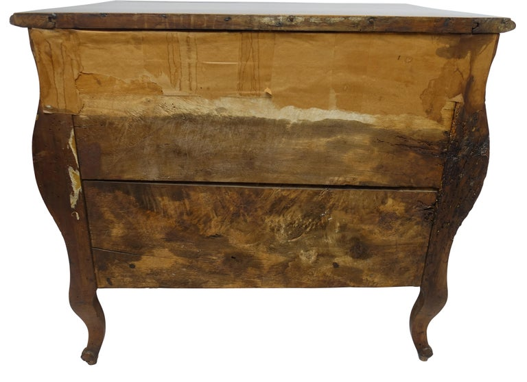 Rococo Bombe Two-Drawer Chest Commode French For Sale 5
