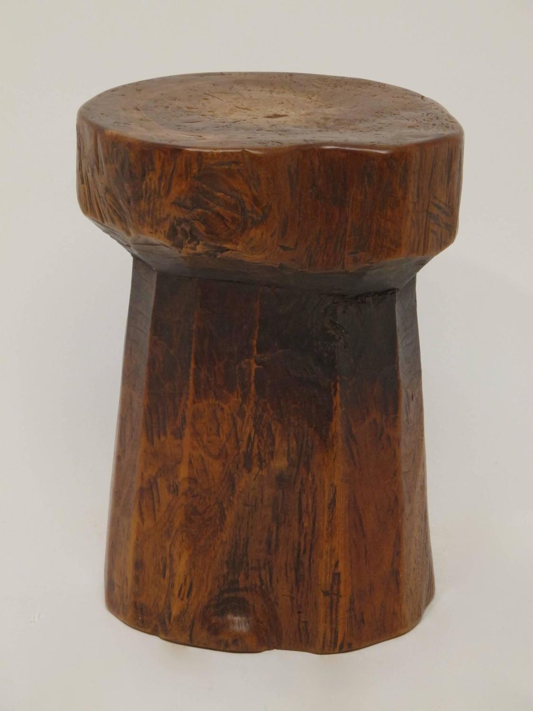 Th century japanese elm wood stool at stdibs
