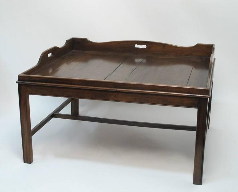 Georgian Mahogany Butler 39 S Tray Coffee Table At 1stdibs