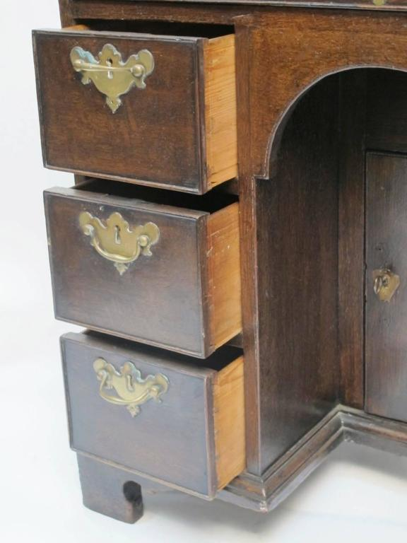 18th Century and Earlier George II Oak Dressing Table or Desk For Sale