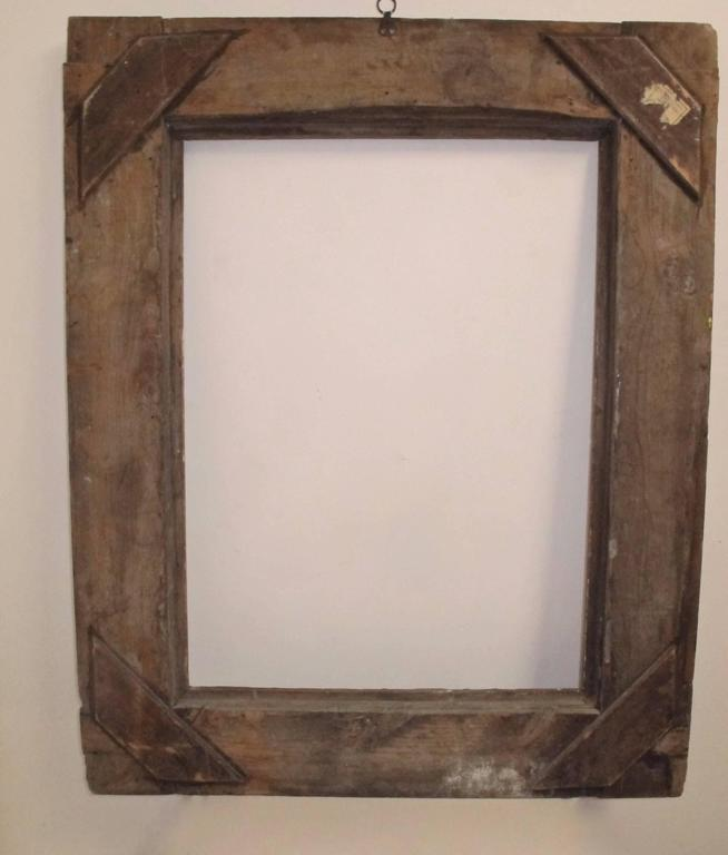 18th Century and Earlier Large Spanish Colonial Carved and Gilt Frame, 18th Century For Sale