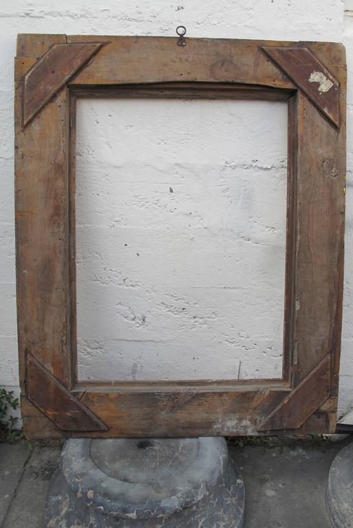 Large Spanish Colonial Carved and Gilt Frame, 18th Century For Sale 1