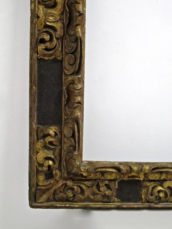 Large Spanish Colonial Carved and Gilt Frame, 18th Century In Good Condition For Sale In San Francisco, CA