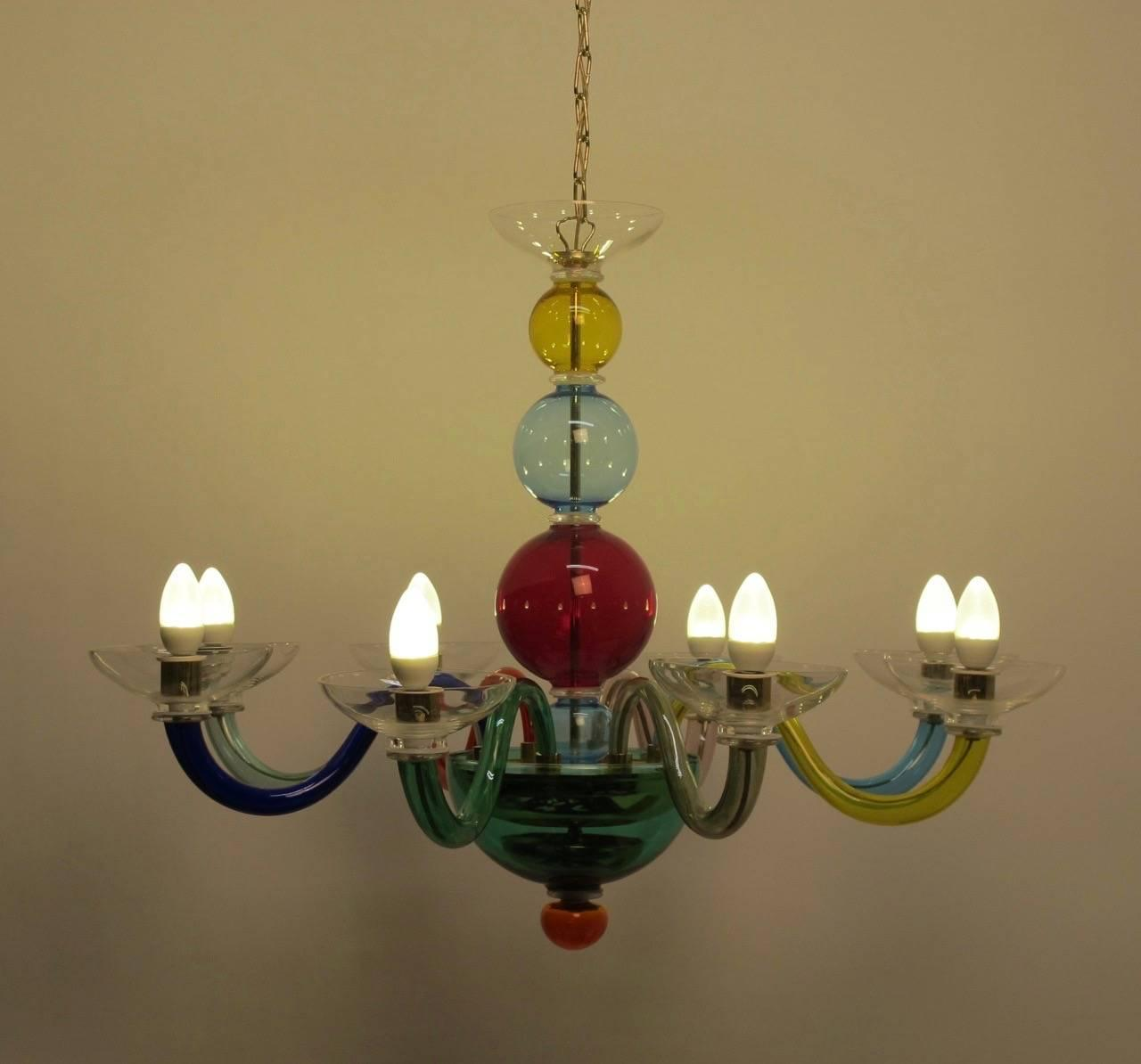 Italian Venini Glass Light Fixture At 1stdibs
