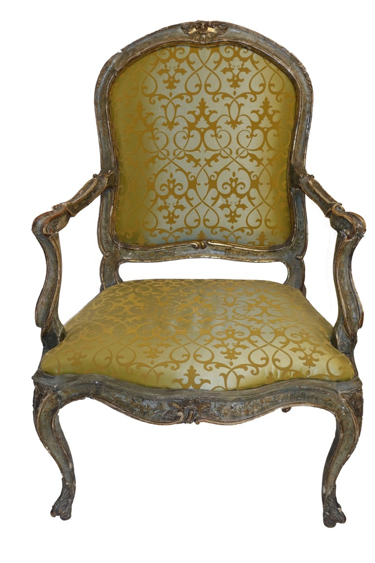 18th Century, Italian Venetian Armchair In Excellent Condition For Sale In San Francisco, CA