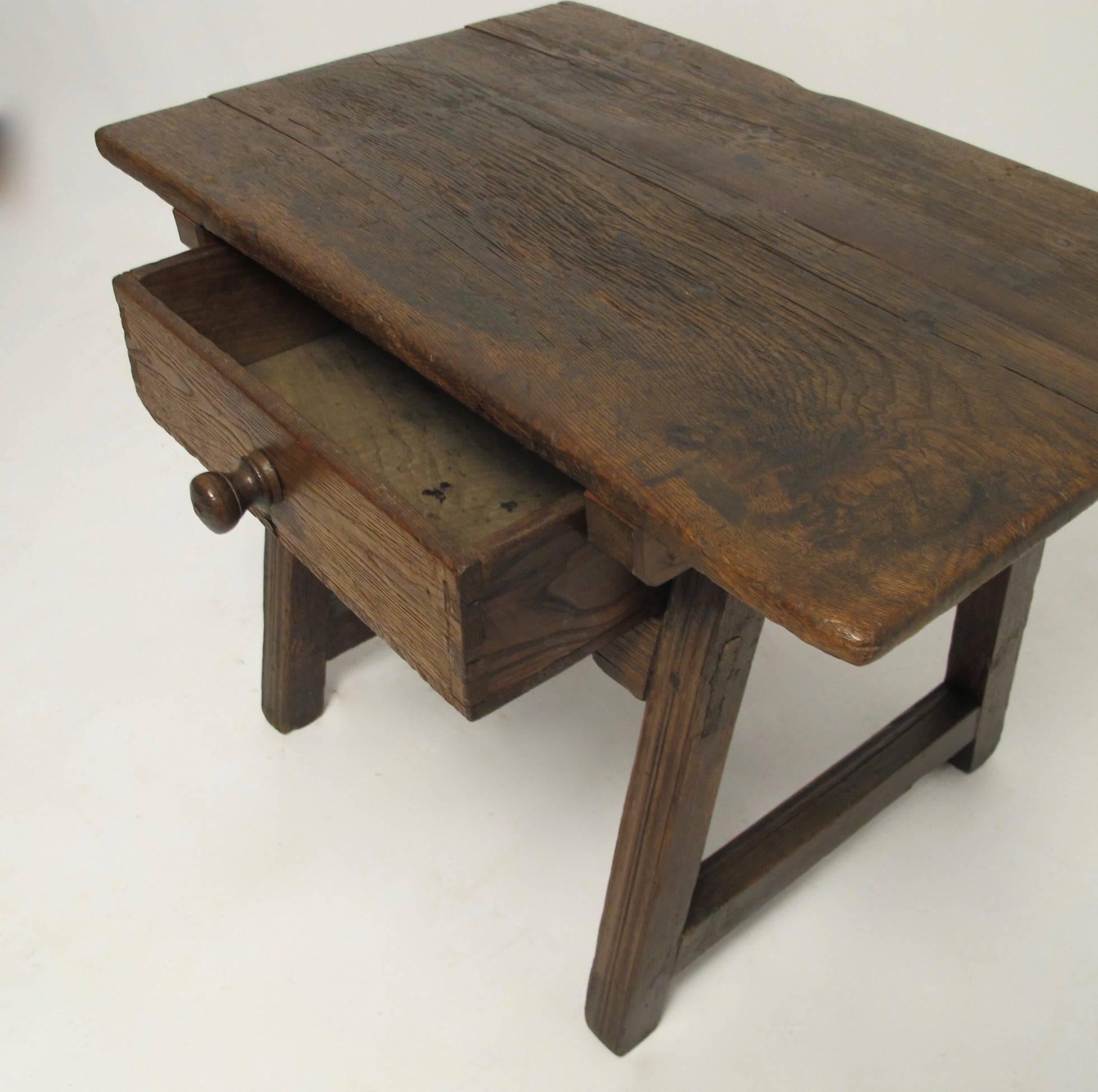 19th Century Mexican Mesquite Wood Side Table For Sale At 1stdibs