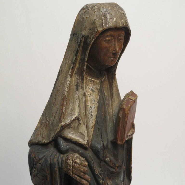 Large 18th Century Northern European Saint Statue For Sale 3
