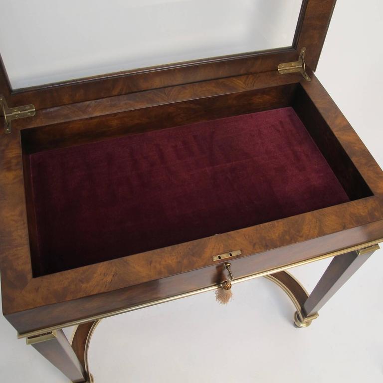 English Mahogany and Bronze Vitrine For Sale 2