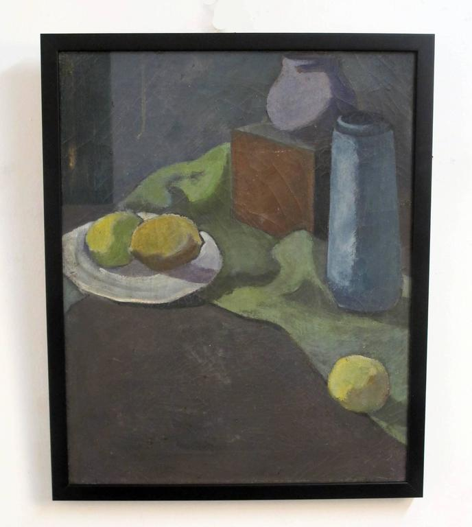 Still Life Painting by David Ladin, American Mid 20th Century In Excellent Condition For Sale In San Francisco, CA
