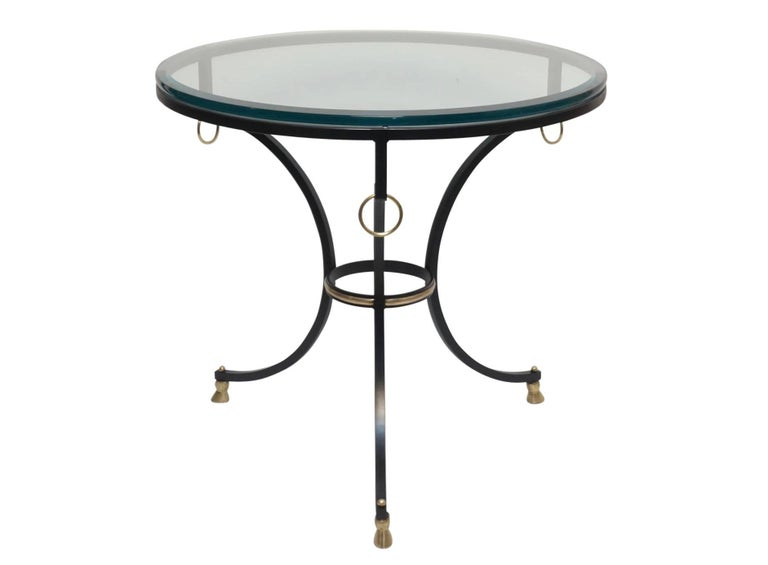 Neoclassical Style Iron and Brass Side Table 9