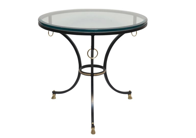 Neoclassical Style Iron and Brass Side Table 2