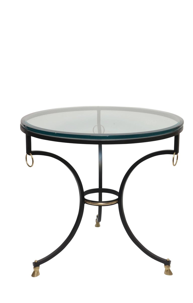 Neoclassical Style Iron and Brass Side Table 7