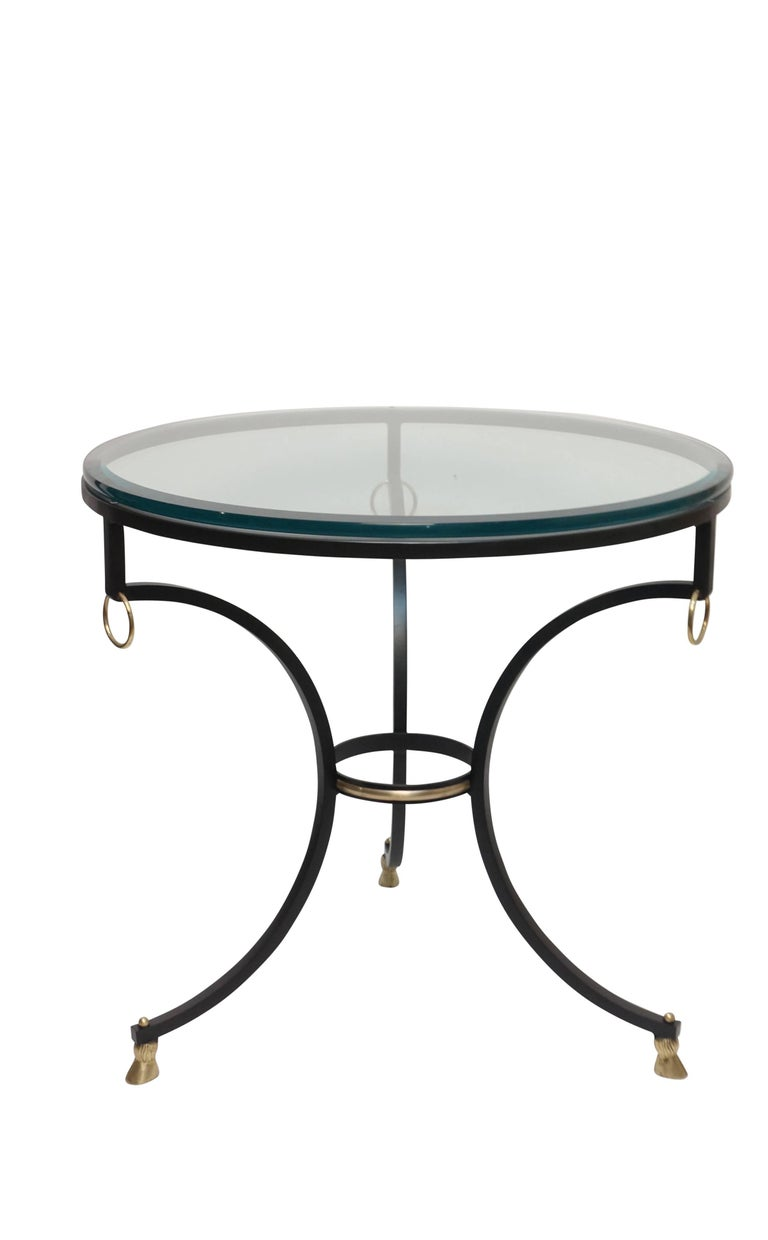 Neoclassical Style Iron and Brass Side Table 3