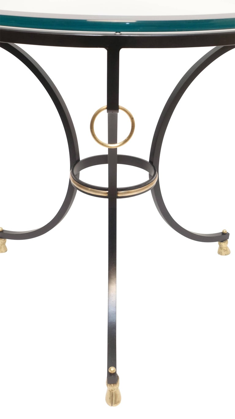 Neoclassical Style Iron and Brass Side Table 8