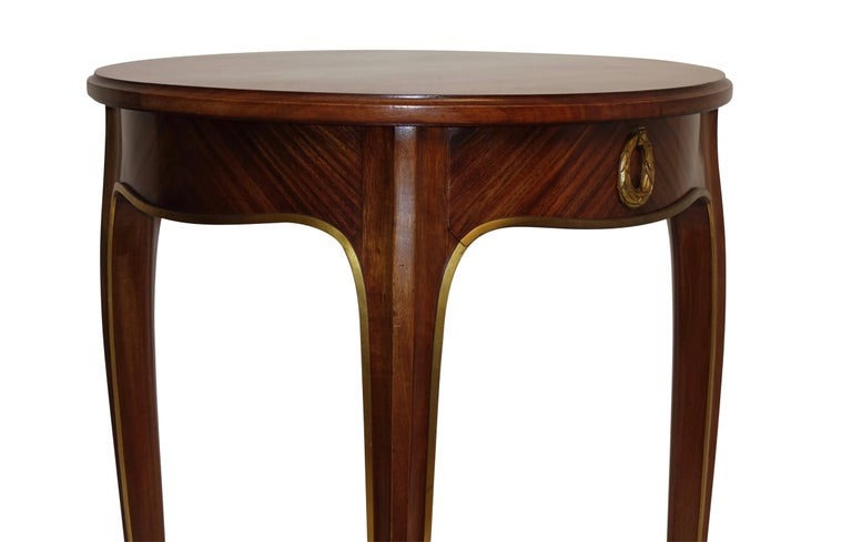 20th Century Louis XVI Style Mahogany Side Table with Drawer, French Early 20th century For Sale