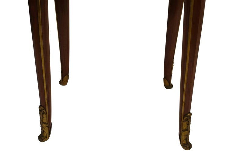Louis XVI Style Mahogany Side Table with Drawer, French Early 20th century For Sale 3