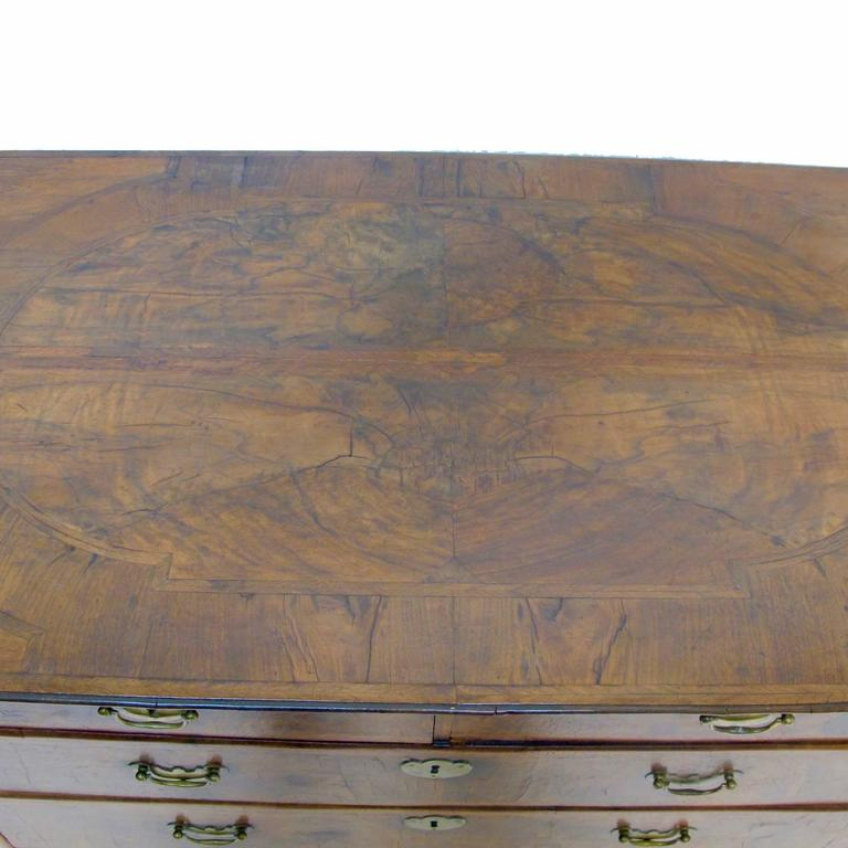 Inlay George II Burl Walnut Chest of Drawers For Sale