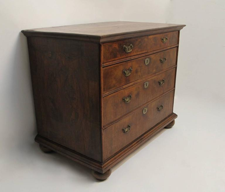 George II Burl Walnut Chest of Drawers 2