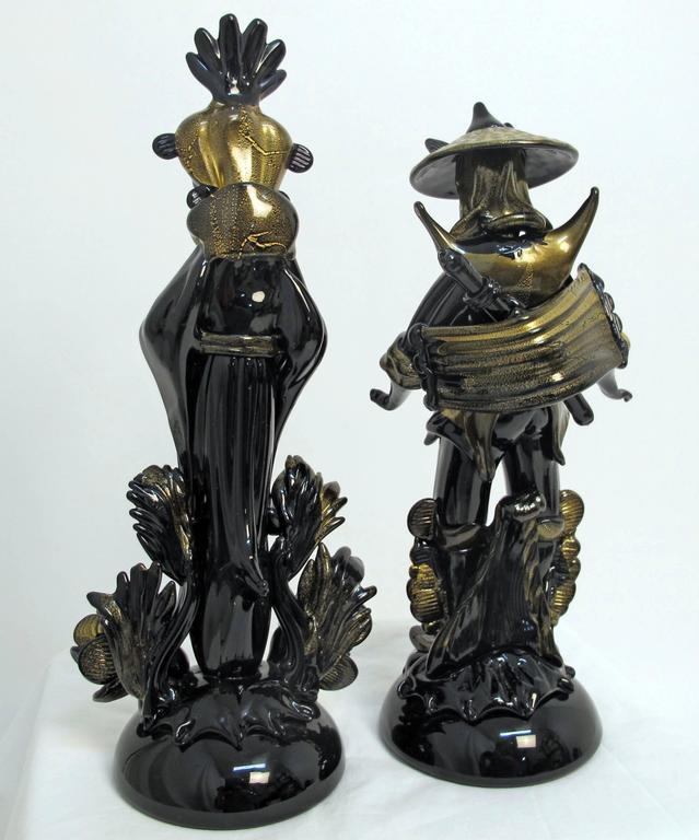 Pair of Barovier Murano Glass Moorish Figures  For Sale 4