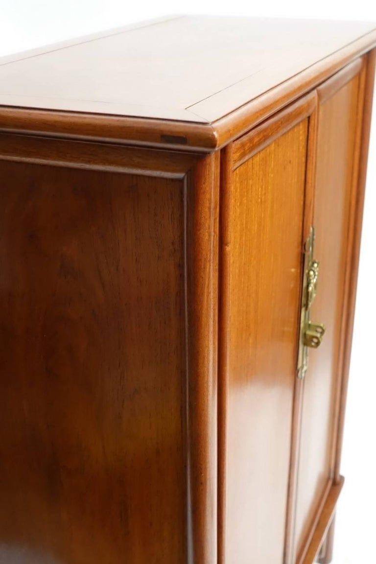 Pair of Mid-Century Chinese Teak Wood Cabinets 4