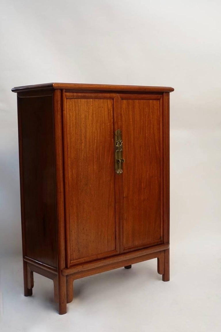 Pair of Mid-Century Chinese Teak Wood Cabinets 3