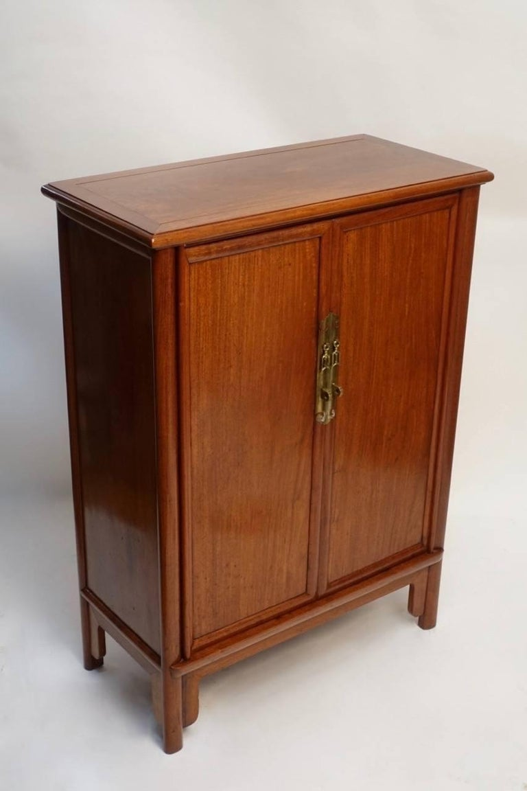 Pair of Mid-Century Chinese Teak Wood Cabinets 2