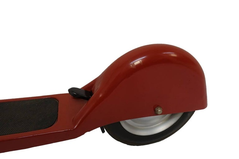Painted Mid-Century Vintage Child's Scooter For Sale
