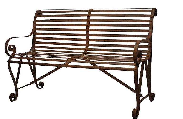 19th Century Iron Garden Bench For Sale 4