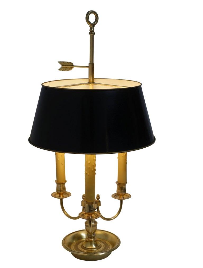 French Louis XVI Style Brass Bouillotte Lamp 2