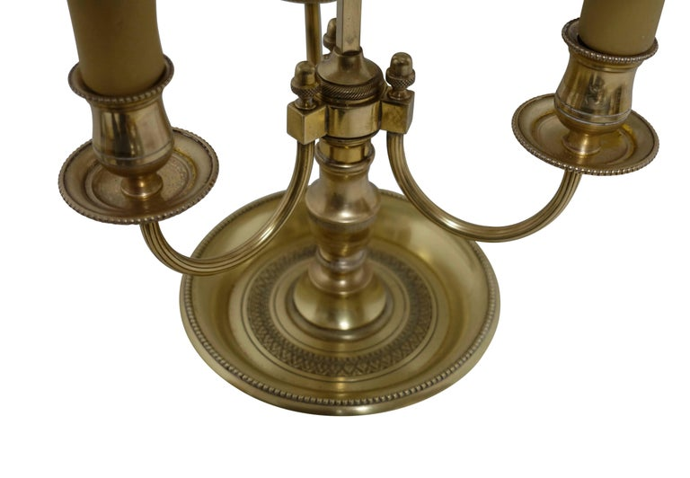 French Louis XVI Style Brass Bouillotte Lamp 8