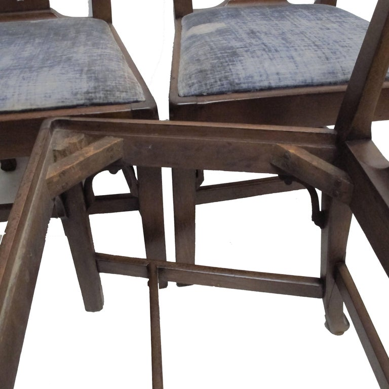Set of Six Chippendale Style Walnut Dining Chairs circa 1800 3