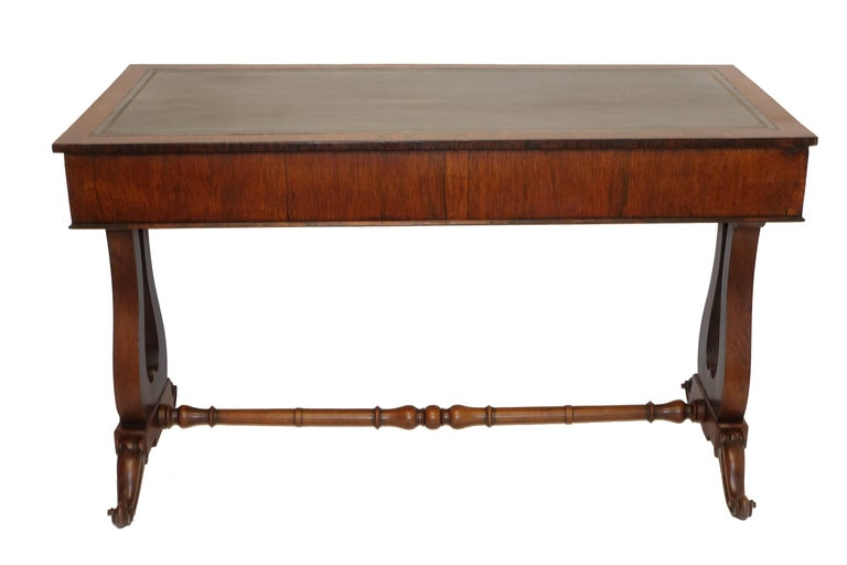 Regency Rosewood Sofa Table or Gentleman's Desk, English 19th Century For Sale 3