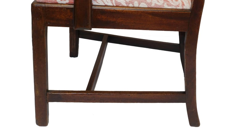 Georgian Mahogany Ribbon Carved Back Splat, English, 19th Century For Sale 2