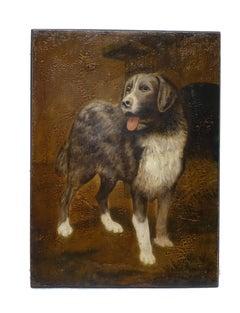 19th Century English Dog Portrait Painting
