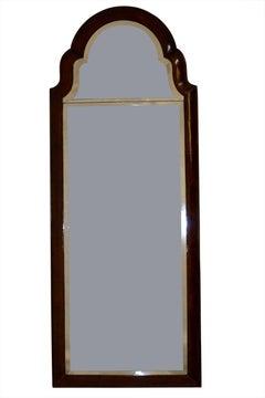 Queen Anne Figured Walnut Mirror, England 18th Century