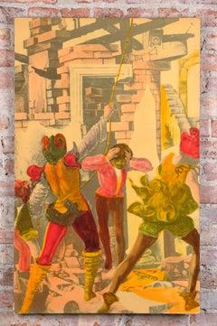 Italian 1950s litografia Artistica