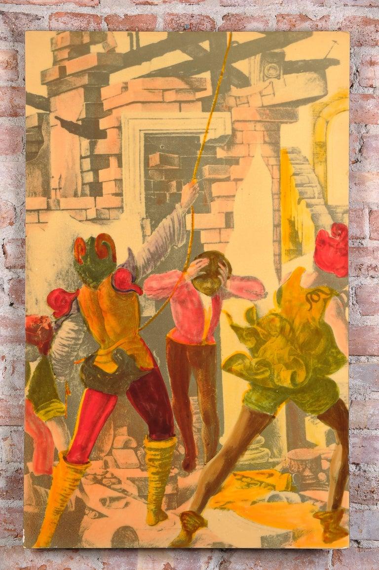 Italian 1950s litografia Artistica  For Sale