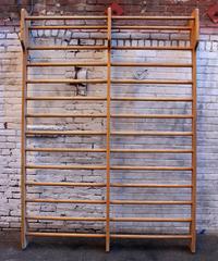 Italian Vintage Swedish Wall Gym Ladder