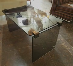 Italian Fume Glass Table