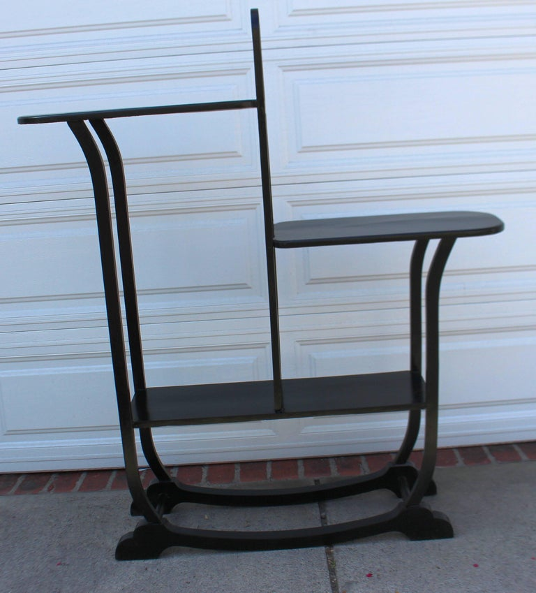 French Art Deco Wood Ebonized Shelf For Sale 1