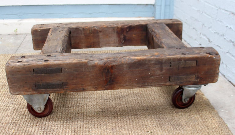 Mid-20th Century English Industrial Coffee Table For Sale