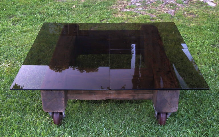 Mid-Century Modern English Industrial Coffee Table For Sale