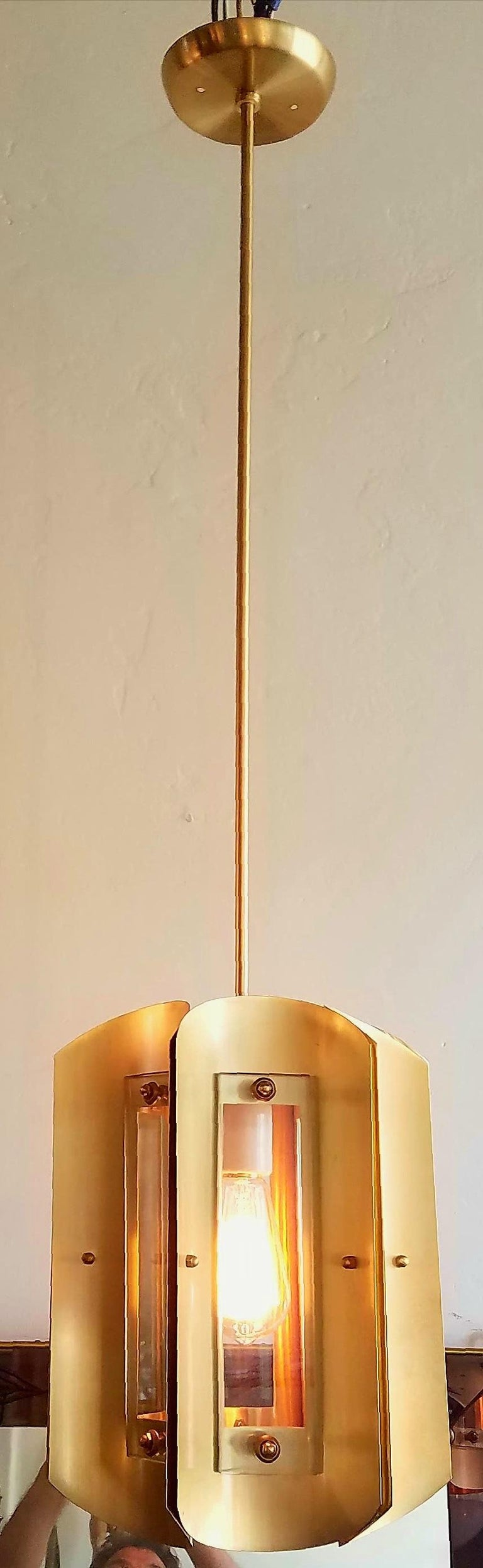 Pair of Italian Chandeliers in Style of Max Ingrand For Sale 1