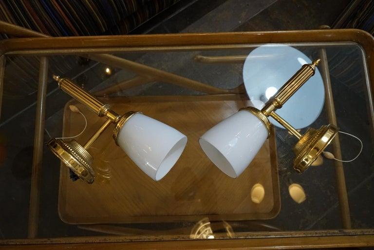 Mid-Century Modern Italian Pair of Wall Sconces For Sale
