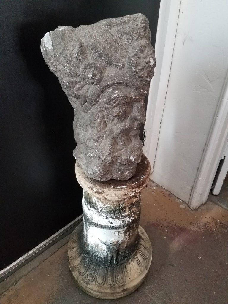 Stone Italian Sculpture from the See Side of Italy For Sale