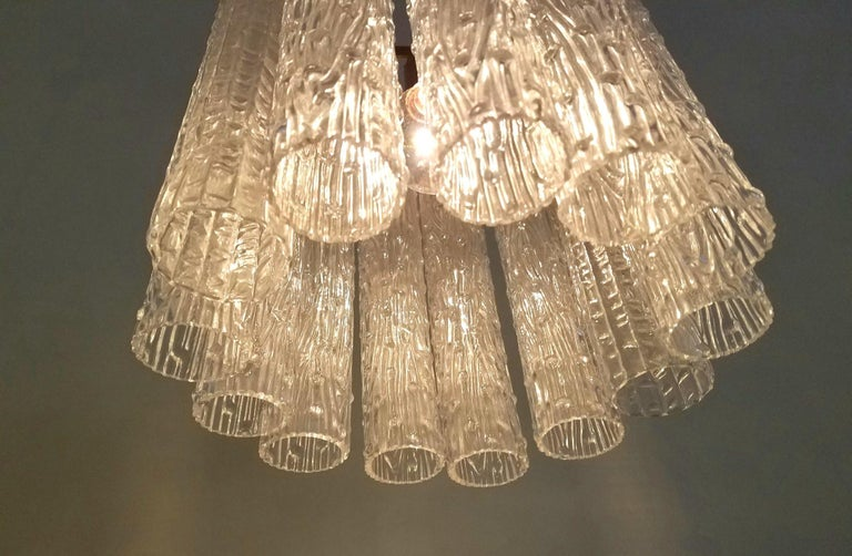 Venini Chandelier In Good Condition For Sale In Los Angeles, CA