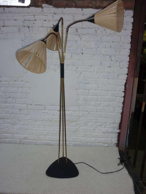 Mid-Century Modern Floor Lamp in the Style of Stilnovo For Sale