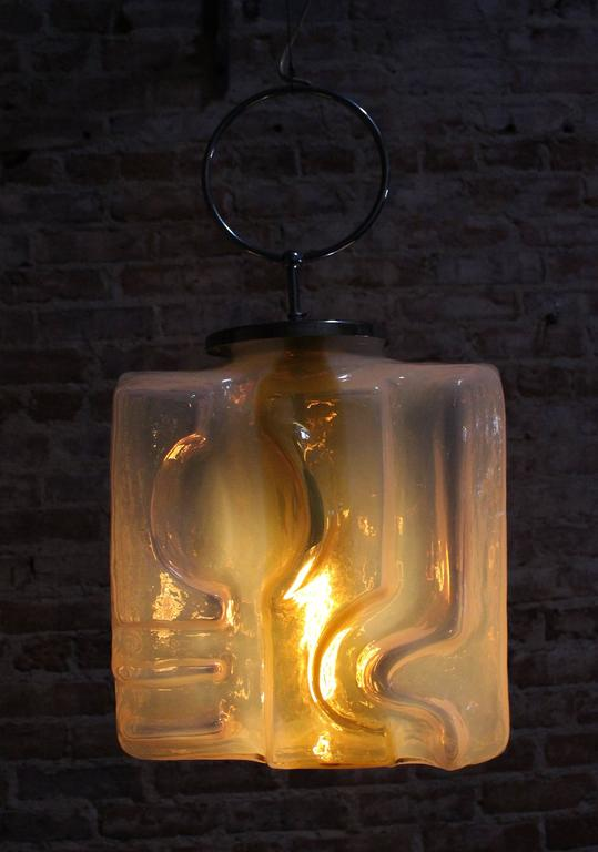 Glass Fratelli Toso Pendant, 1970 For Sale